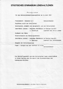 Programm Juni 1983