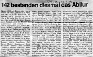 Ruhrnachrichten 10.Juni 1983