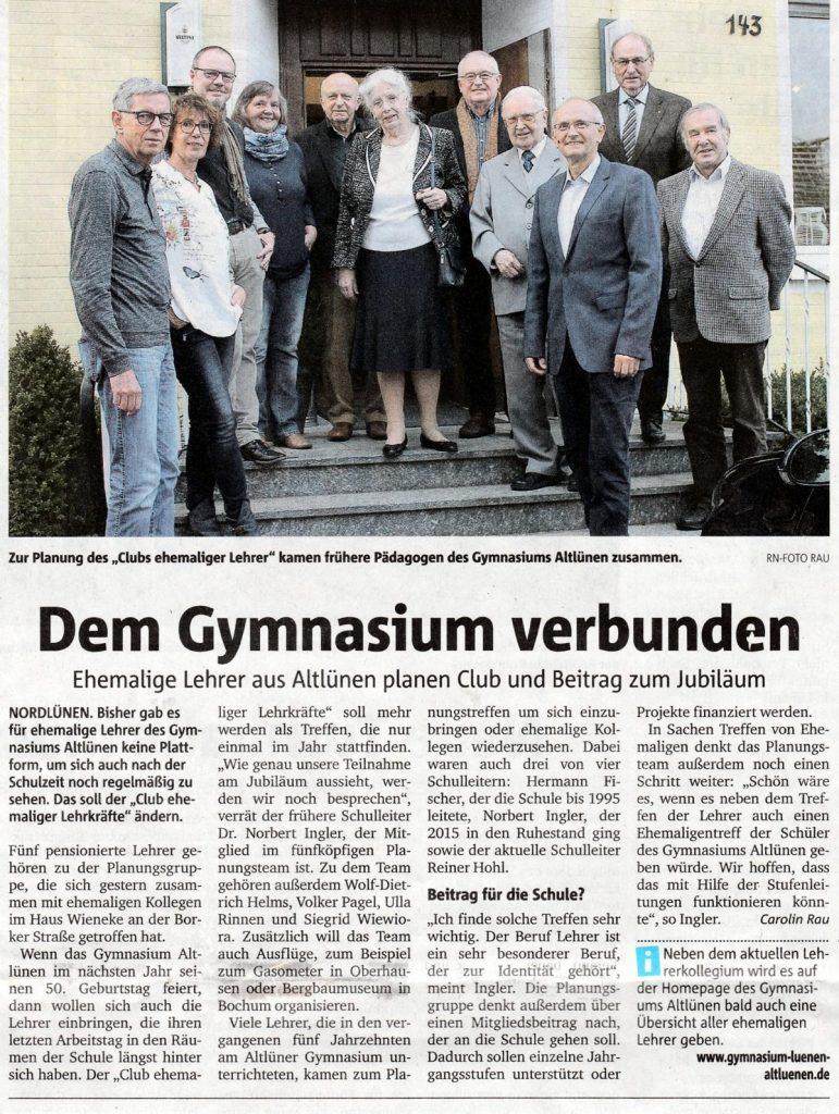 RuhrNachrichten, Lokalteil Lünen, vom 27. Oktober 2016