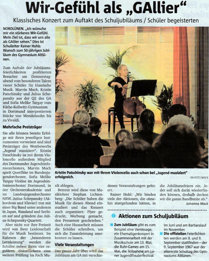 RuhrNachrichten vom 25.2.2017