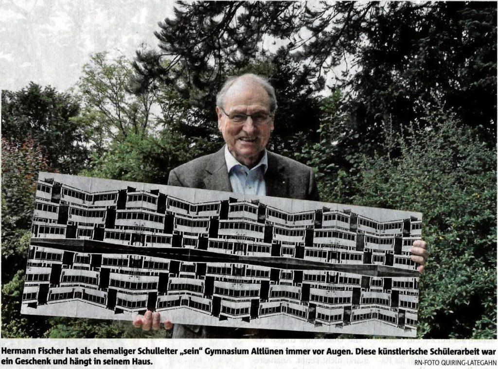Bericht über Herrn Fischer im Ruhestand. Ruhrnachrichten vom 2.8.2017