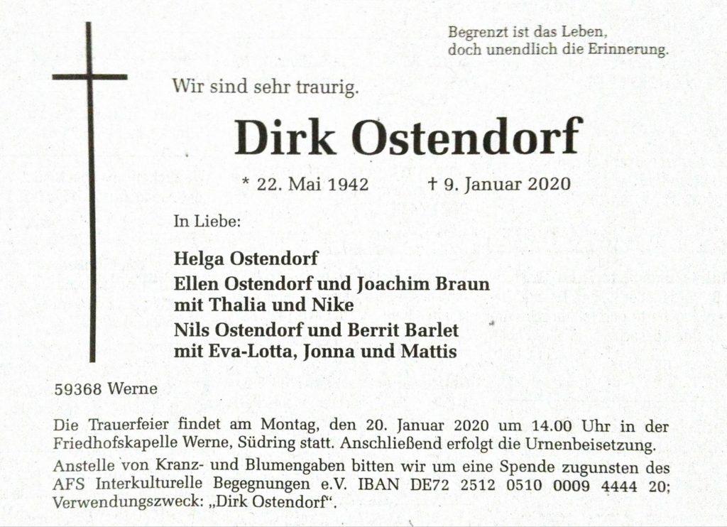 Anzeige aus den RuhrNachrichten vom 16.1.2020